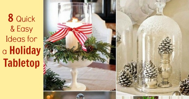 Last Minute Holiday Tabletop Ideas