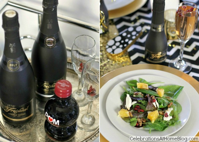 new years eve golden glam dinner party celebrations