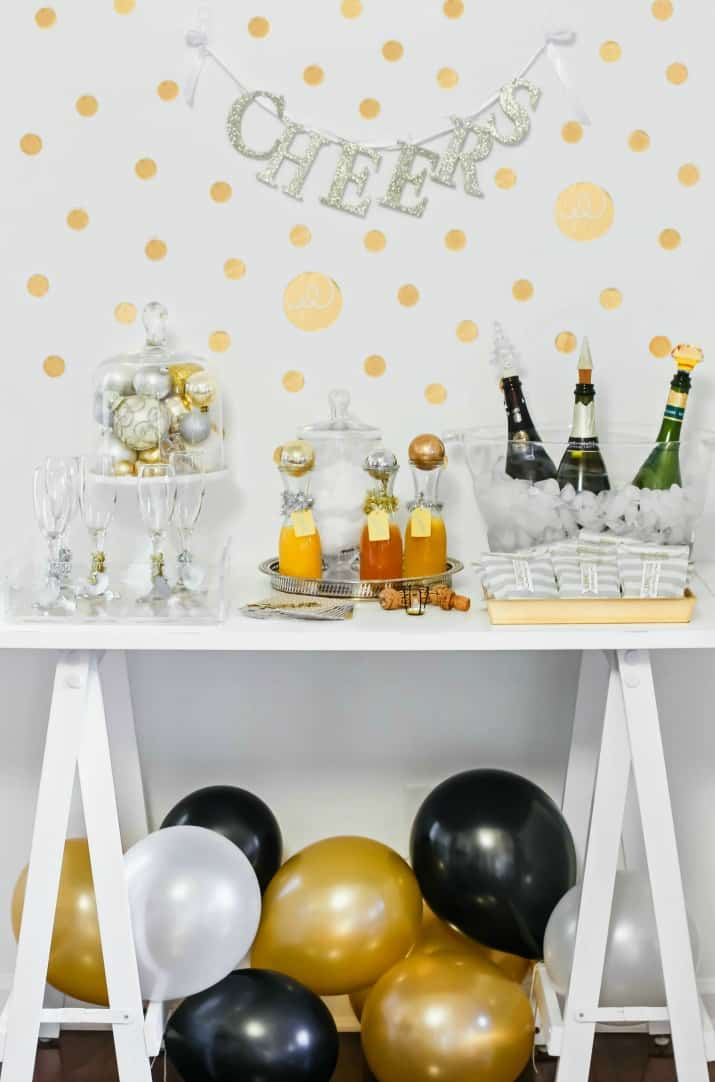 Best Bubbly Bar Ideas For Holiday Parties Celebrations At Home