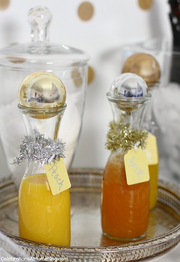 nye bubbly bar fruit nectars