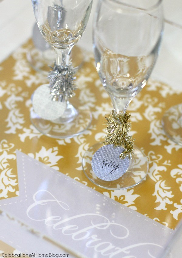 Setting up a bubbly bar is fun with these festive ideas for the holidays or New Years Eve.