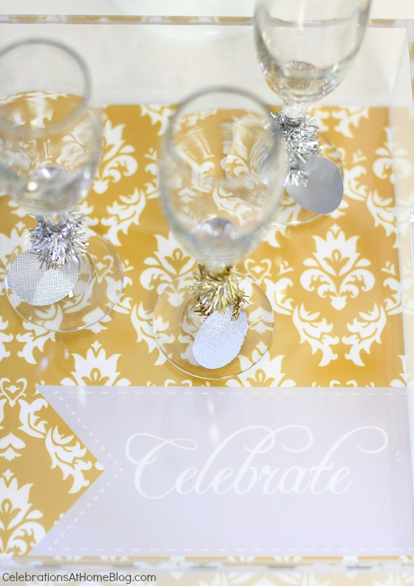 nye glasses on tray