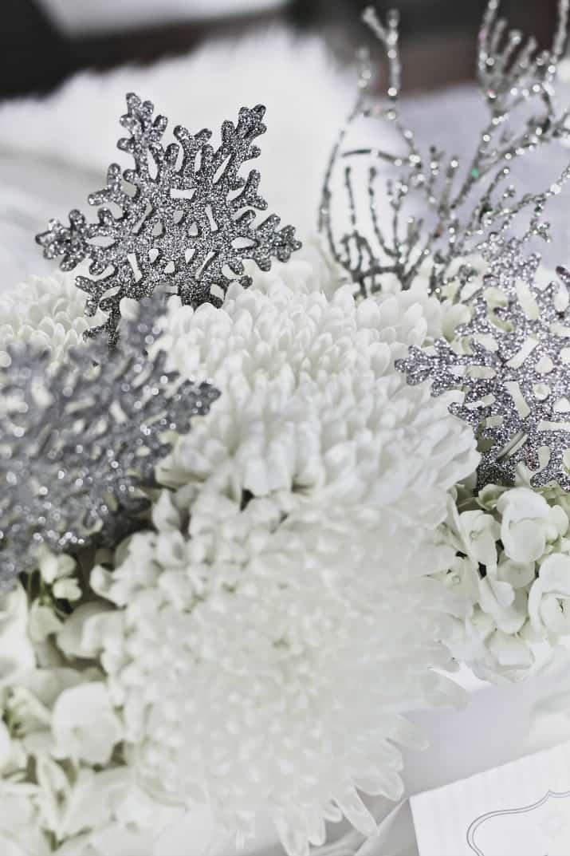 winter flower centerpiece