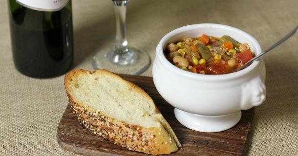 Turkey Vegetable Soup Recipe {+ Snow Day Fun}