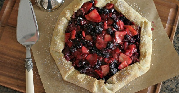 Lightened Up Apple-Berry Galette