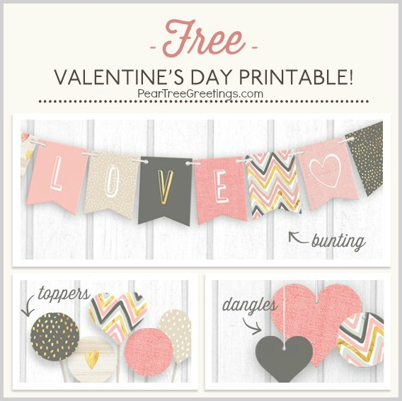 FREE printables from Pear Tree Greetings #ValentinesDay
