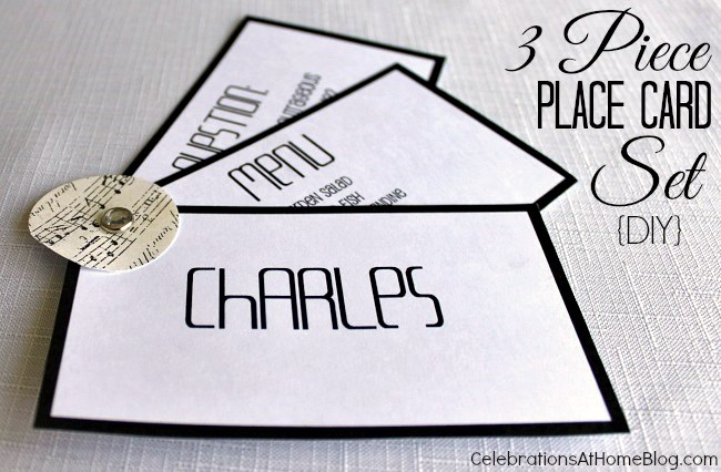 3 piece place card set #diy