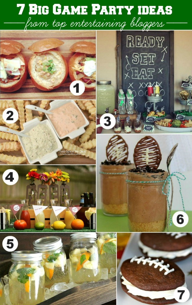 7-big-game-party-ideas #HostessHQ  #footballparty