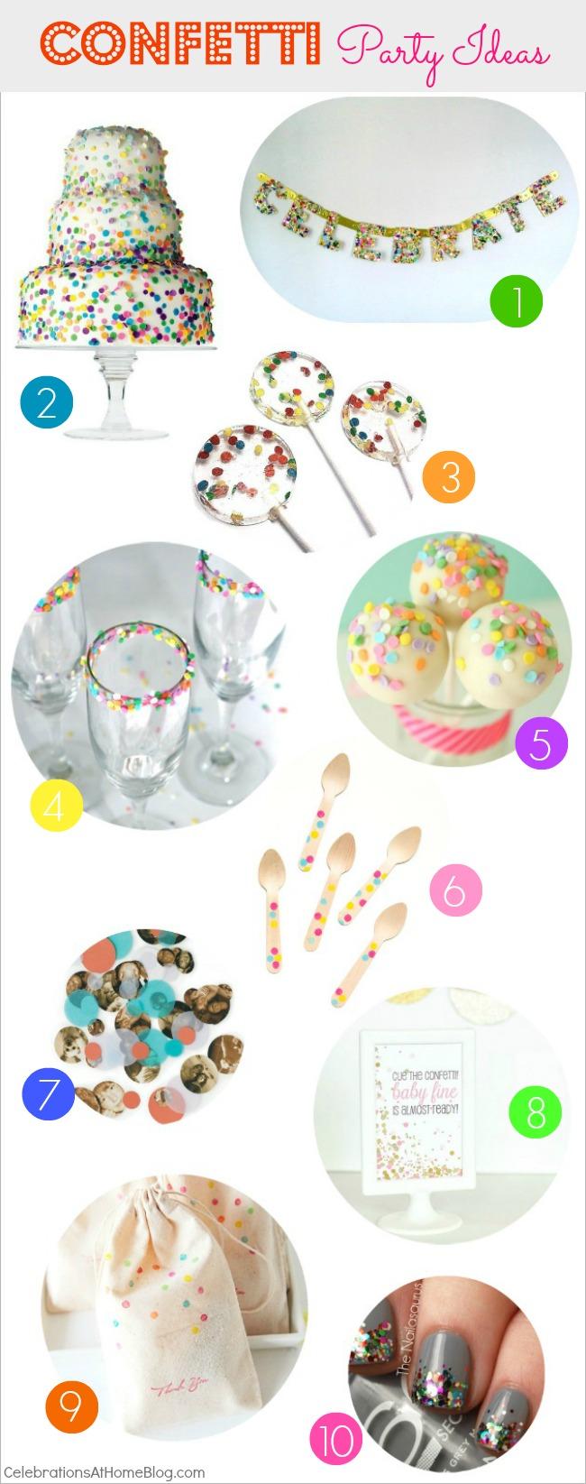confetti party ideas