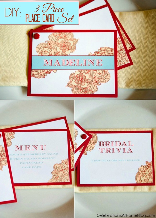 diy 3-piece place card set #diy