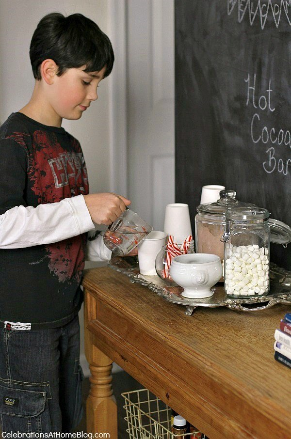 self serve hot cocoa bar
