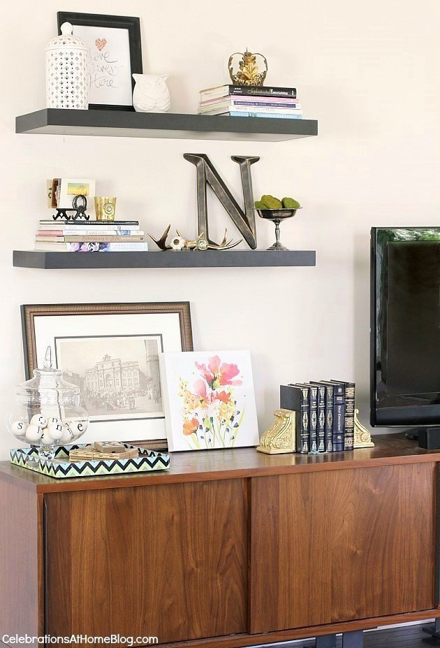 turn your console table into a game day buffet