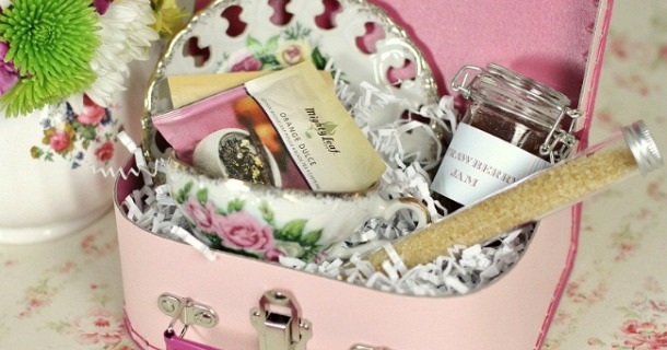 tea party gift box idea