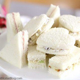 tea party tea sandwiches filling recipe card
