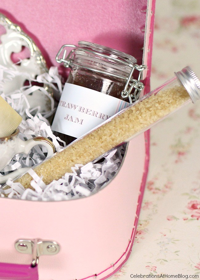 Make this tea themed gift box for a hostess gift, for bridesmaids, for mother's day, or any special occasion.