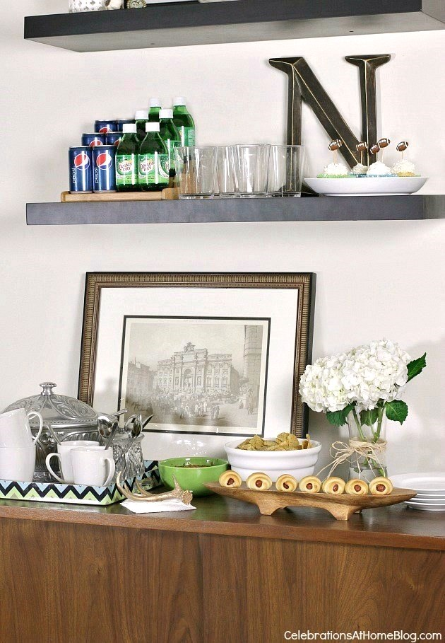 turn an everyday spot into an entertaining buffet