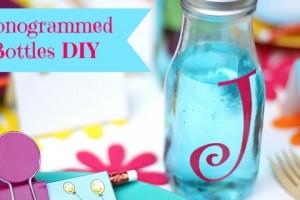 diy monogrammed bottles