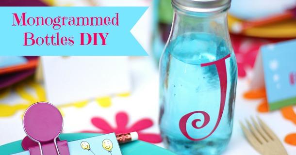 DIY :: Monogrammed Bottles