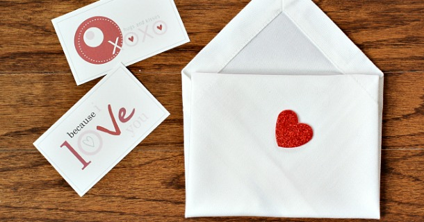 valentine's day napkin envelopes