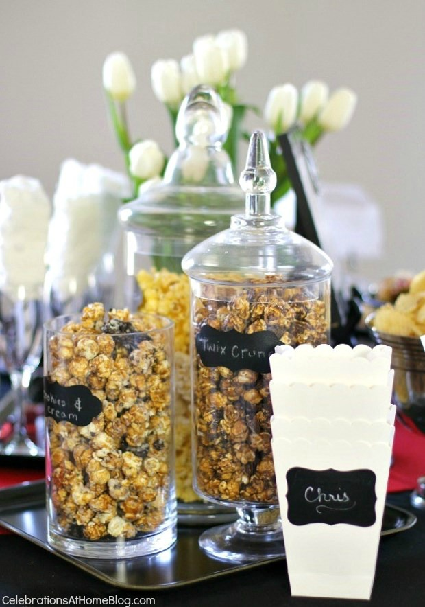 Oscars theme party ideas - #popcornbar