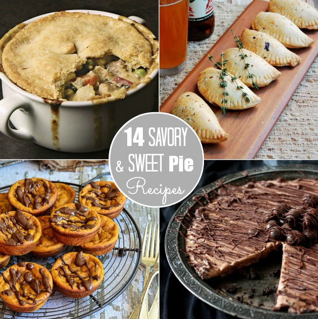14 savory and sweet pie recipes #pie