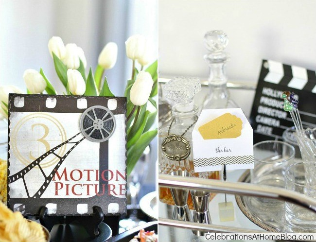 Oscars theme party ideas & best picture themed menu