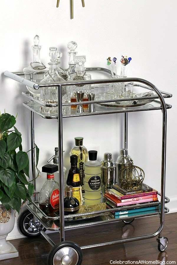 home tour-studio-bar cart