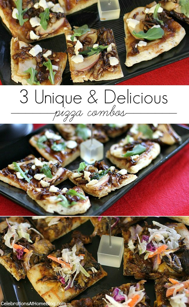 Make all three delicious pizza combos for a night of entertaining or choose just one for a family dinner.