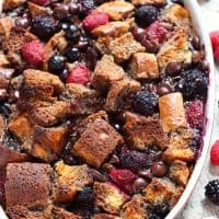 Berry chocolate french toast casserole recipe