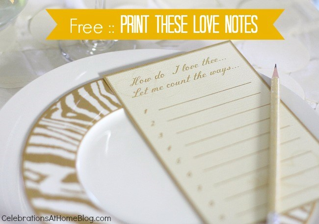 free printable love notes #valentinesday