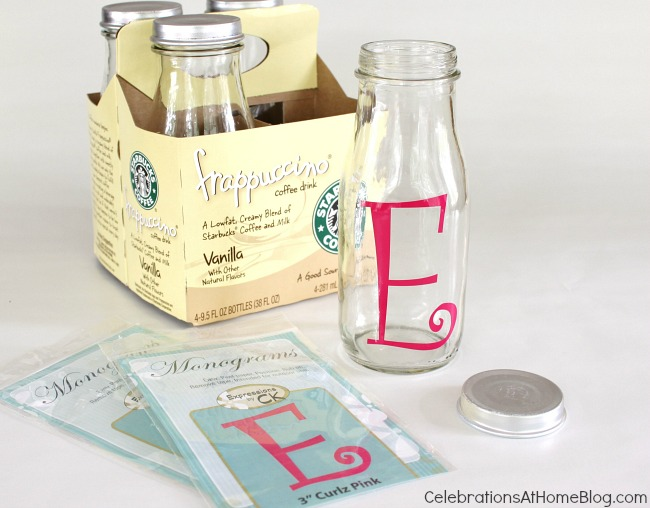 monogram bottles #diy