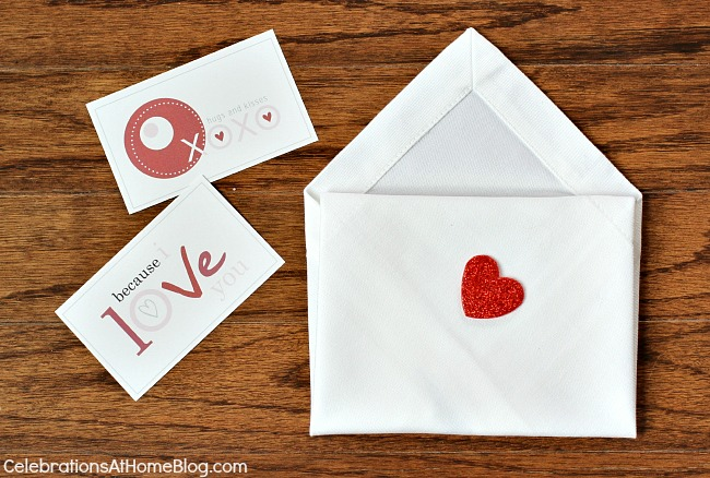 napkin envelope #diy