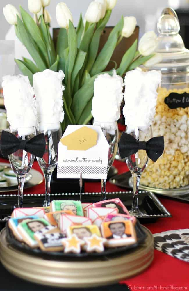 What better way to watch movie stars maneuver their way down the red carpet and on stage than with a champagne cocktail and tasty hors d'oeuvres in-hand.