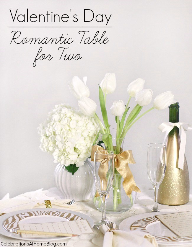 Valentines day table for two