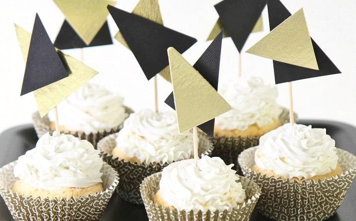 DIY Modern Cupcake Toppers