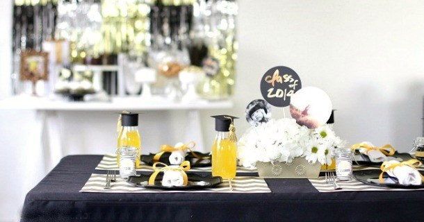 Graduation Party Ideas Modern-Classic Style