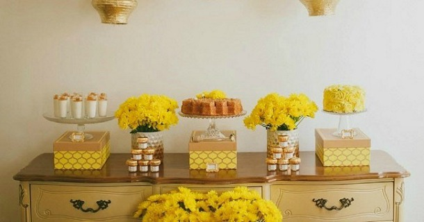 Honeycomb themed baby shower