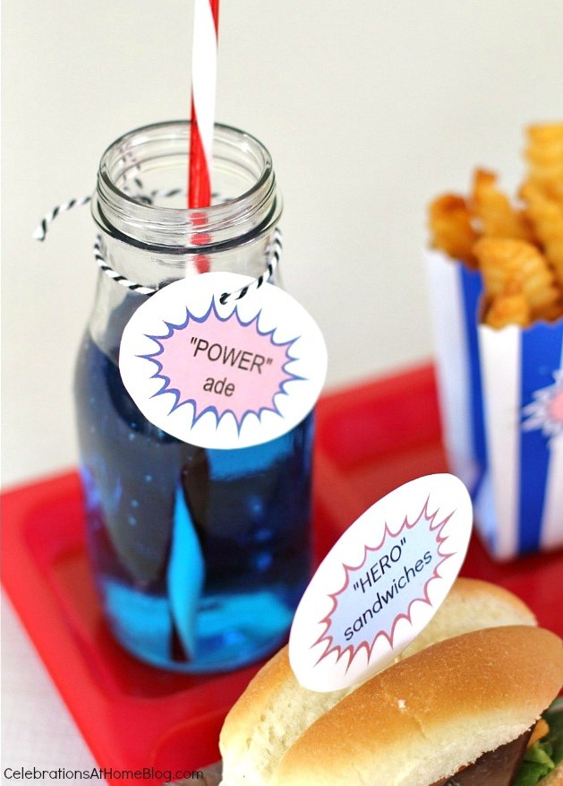 5 ideas for a fun Superman party-POWERade