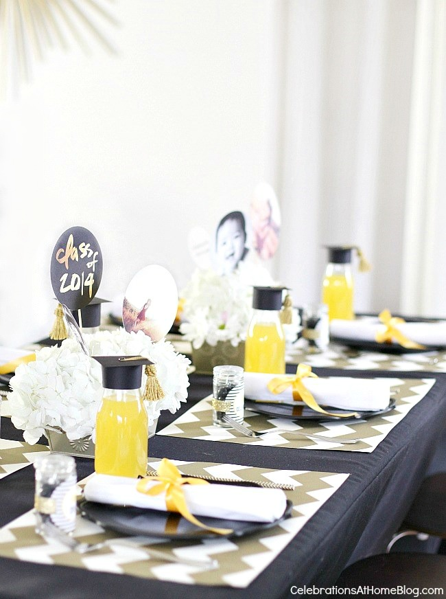 Ordinary Graduation Party Dinner Ideas Part - 12: ... Add Some Modern Style To A Classic Graduation Party Color Palette ...