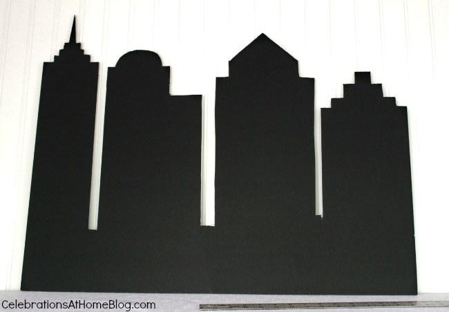 cityscape backdrop diy