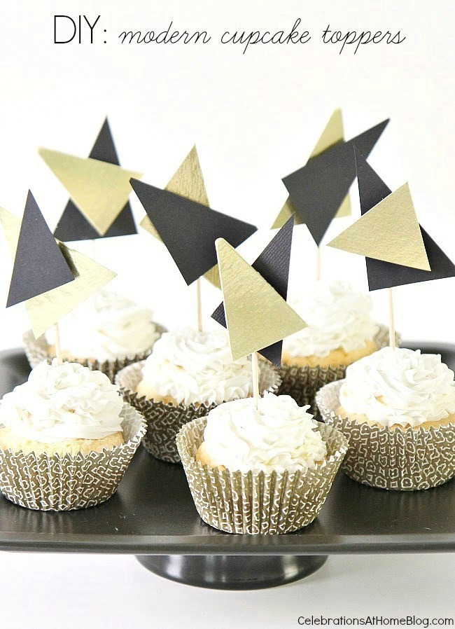 make these modern graphic cupcake toppers for your next cool celebration