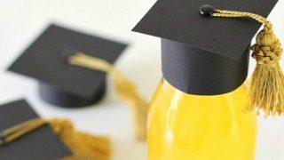 DIY Graduation Cap Bottle Toppers