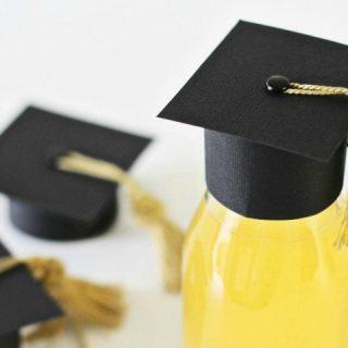 diy mini graduation cap toppers