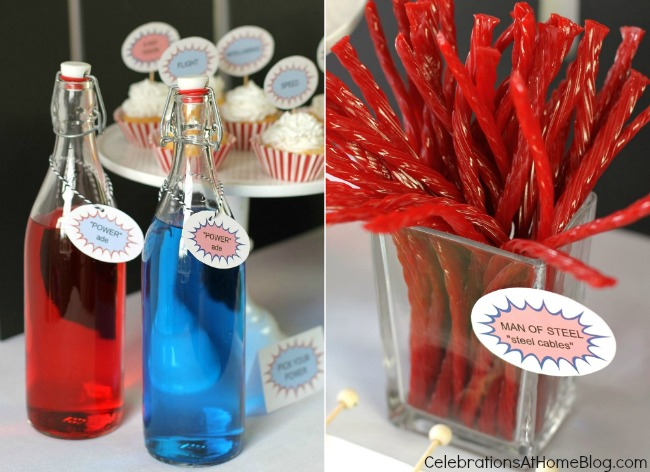 All you need are these 5 simple ideas for a fun Superman party. Super hero party ideas.