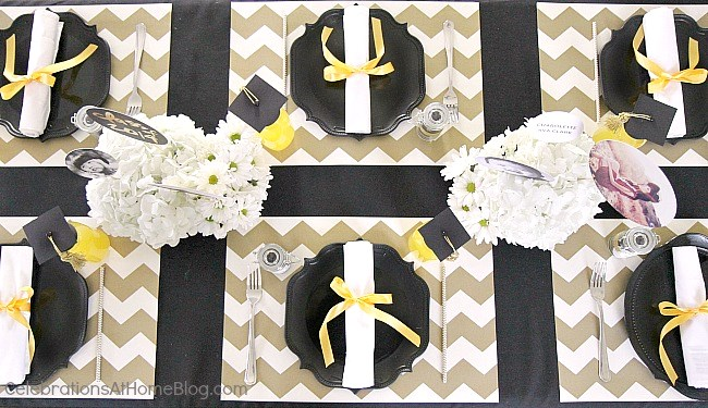 ... graduation party table setting ... & Graduation Party Ideas :: Modern-Classic Style - Celebrations at Home