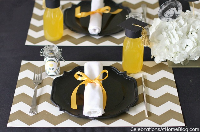 graduation party place setting #graduationparty