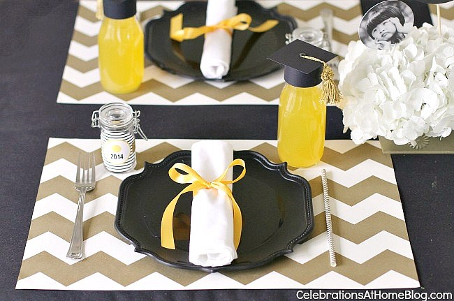 graduation place setting