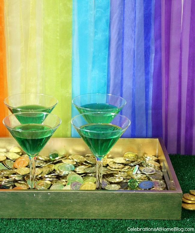 "St Patrick's day cocktail - ""Green Leprechaun"""