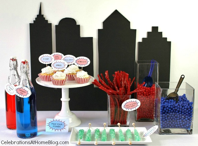 DIY Cityscape Backdrop for Superman party #diy #supermanparty