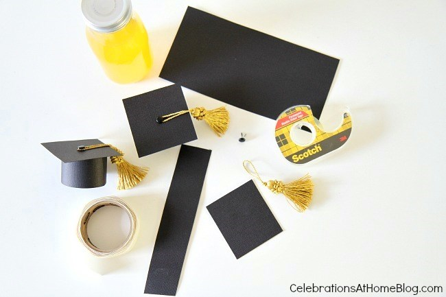 DIY :: Graduation Cap Bottle Toppers - Celebrations at Home